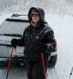 Cheerful skier