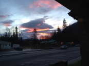 Sunset from the post office